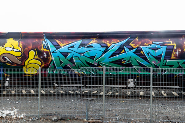 Just Another Agency - Can't Do Tomorrow - SSR Trains - Graffiti